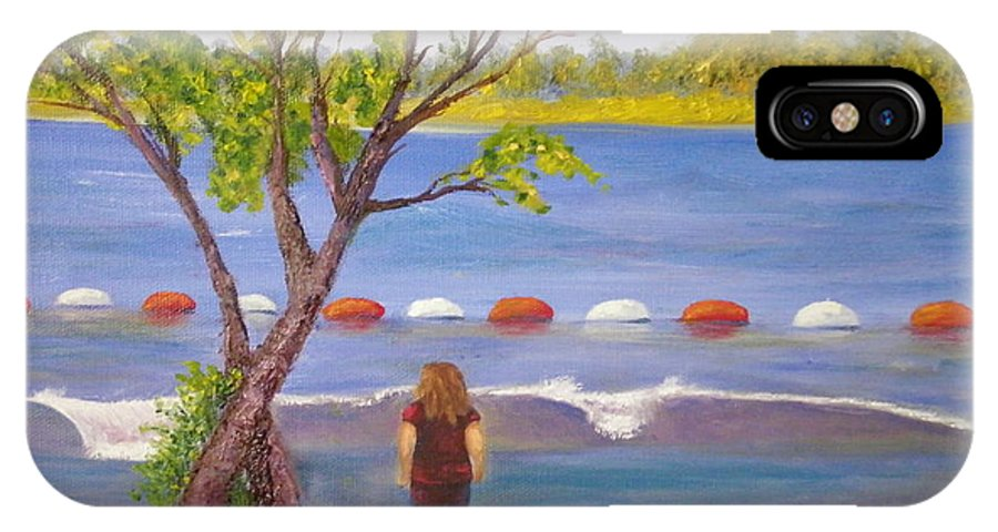 Landscape Of Petrie Island In Ottawa IPhone X Case featuring the painting Petrie Island by Josie De Meo