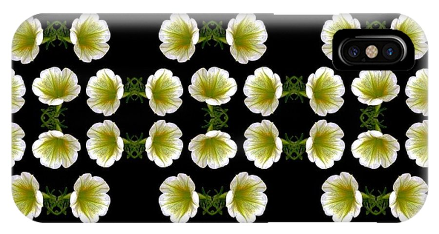 Flowers Digital Art IPhone X Case featuring the digital art Petunias by Dale  Ford