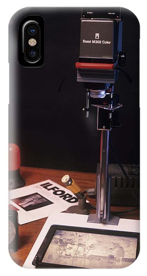 Equipment IPhone X / XS Case featuring the photograph Photographic Enlarger by Andrew Lambert Photography