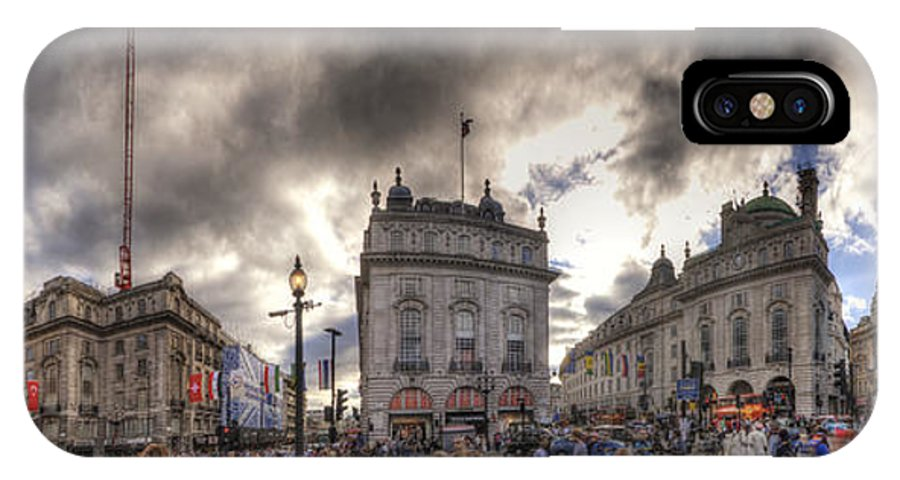 Yhun Suarez IPhone X Case featuring the photograph Piccadilly Panorama by Yhun Suarez