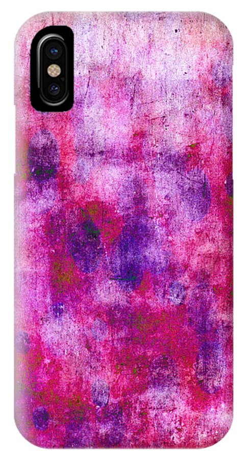 Pink IPhone X Case featuring the painting Pink Blueberries by Julie Niemela