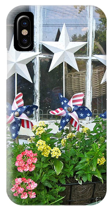 Pinwheels IPhone X Case featuring the photograph Pinwheels In The Flower Box by Nancy Patterson