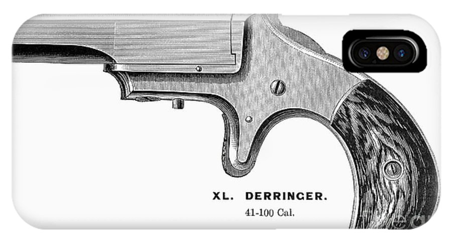 1880s IPhone X Case featuring the photograph Pistol, 19th Century by Granger