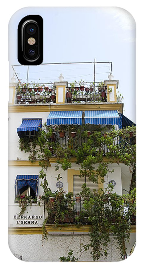 Plant IPhone X Case featuring the photograph Plant Covered House In Triana Seville by Perry Van Munster