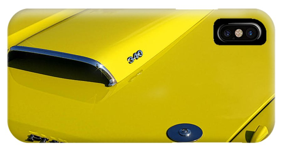Plymouth IPhone X Case featuring the photograph Plymouth Duster 340 Hood Scoop by Gordon Dean II