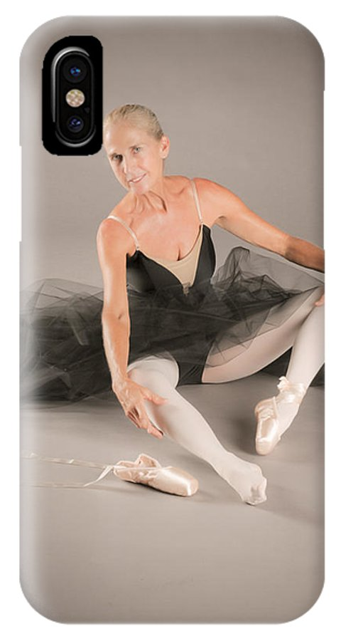 Art IPhone X Case featuring the photograph Pointe Shoe Prep by Nancy Taylor