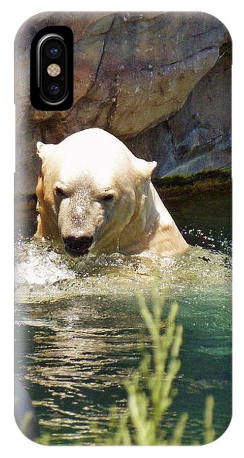 Polar Bear Swim IPhone X Case featuring the photograph Polar Bear Swim by Methune Hively