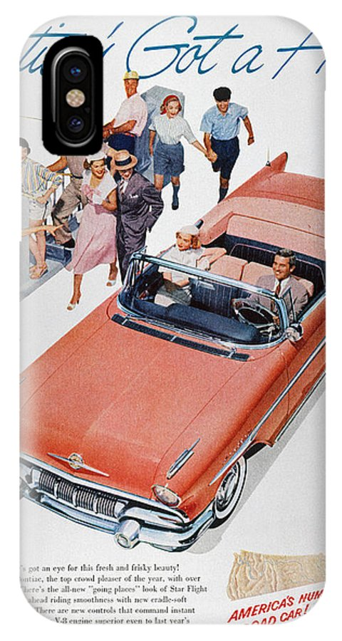 1957 IPhone X Case featuring the photograph Pontiac Advertisement 1957 by Granger