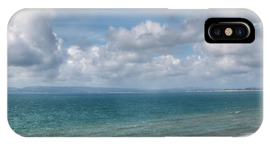 Poole Bay IPhone X Case featuring the photograph Poole Bay Panorama by Chris Day