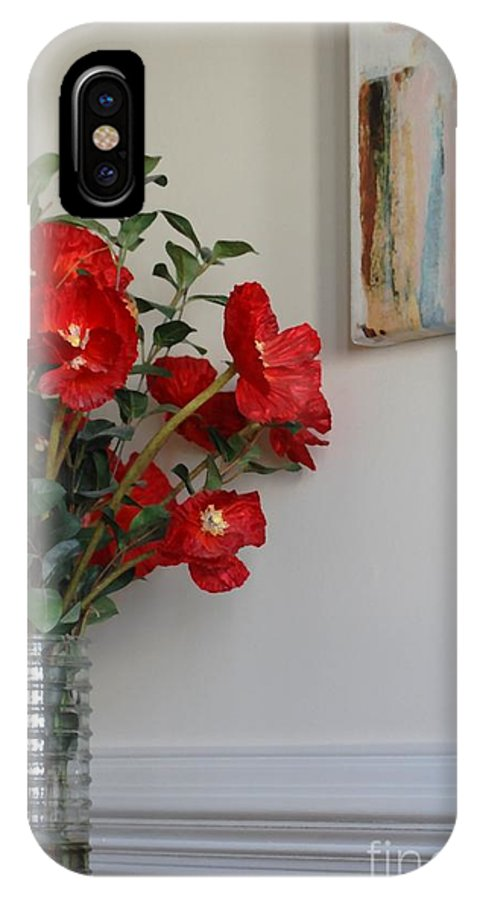 Floral IPhone X Case featuring the photograph Poppies In Oil by Donna Bentley