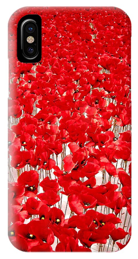 Europe IPhone X Case featuring the photograph Poppy Meadow ... by Juergen Weiss