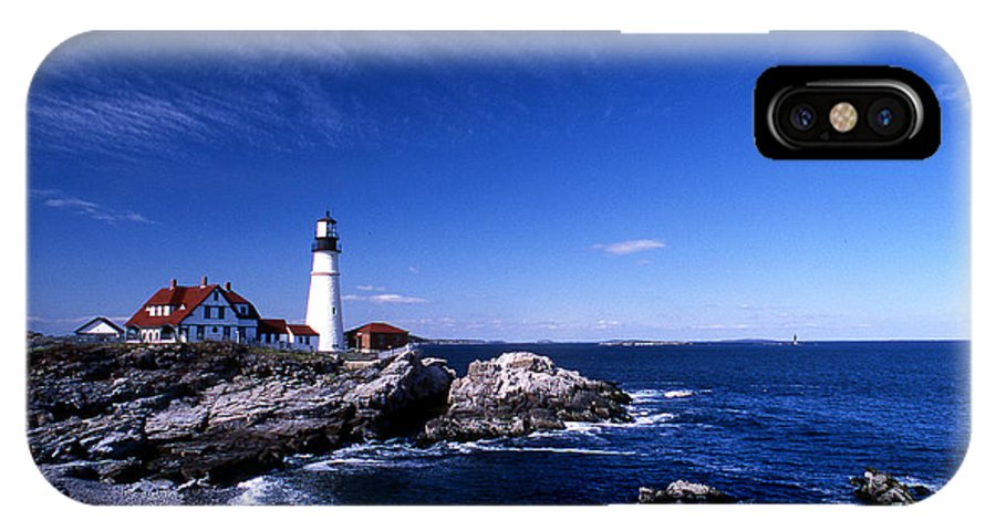 Me IPhone X Case featuring the photograph Portland Head Offshore by Skip Willits