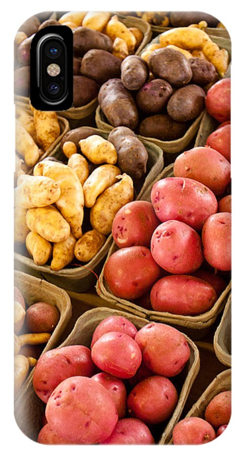 Potatoes IPhone X Case featuring the photograph Potatoes by Lauri Novak
