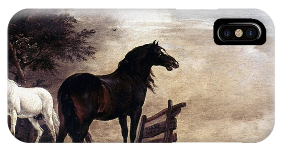 1648 IPhone X Case featuring the photograph Potter: Horses, 1649 by Granger