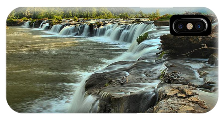 West Virginia Waterfalls IPhone X Case featuring the photograph Pouring Over Sandstone by Adam Jewell