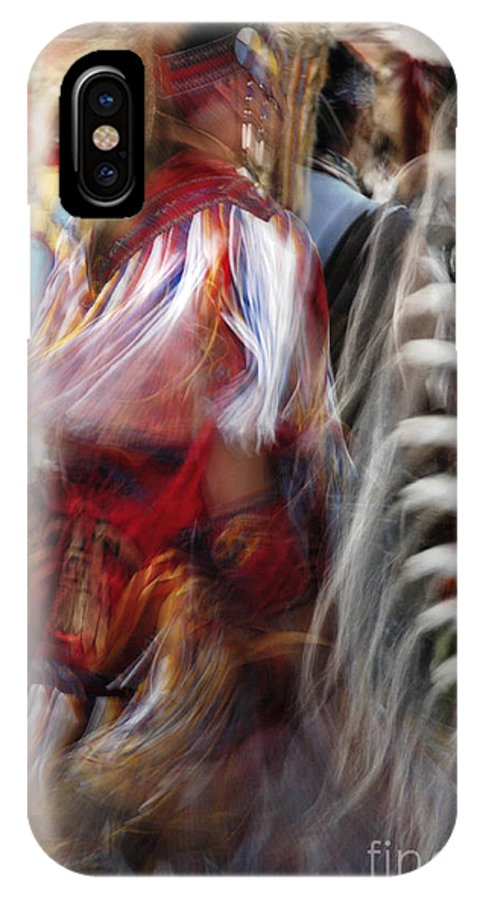 Pow Wow IPhone X Case featuring the photograph Pow Wow Dancer by Vivian Christopher