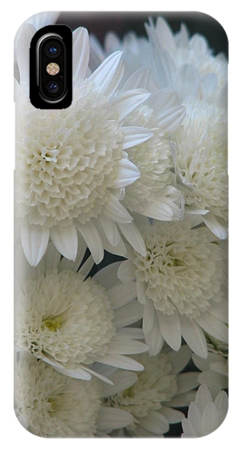 Flower IPhone X Case featuring the photograph Powder Puff by Paul Slebodnick