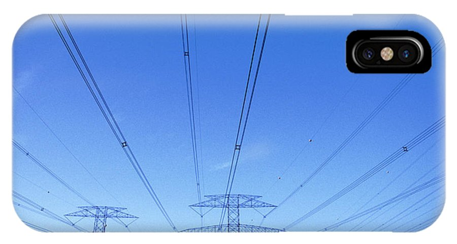 Pylon IPhone X Case featuring the photograph Power Lines by Adam Gault