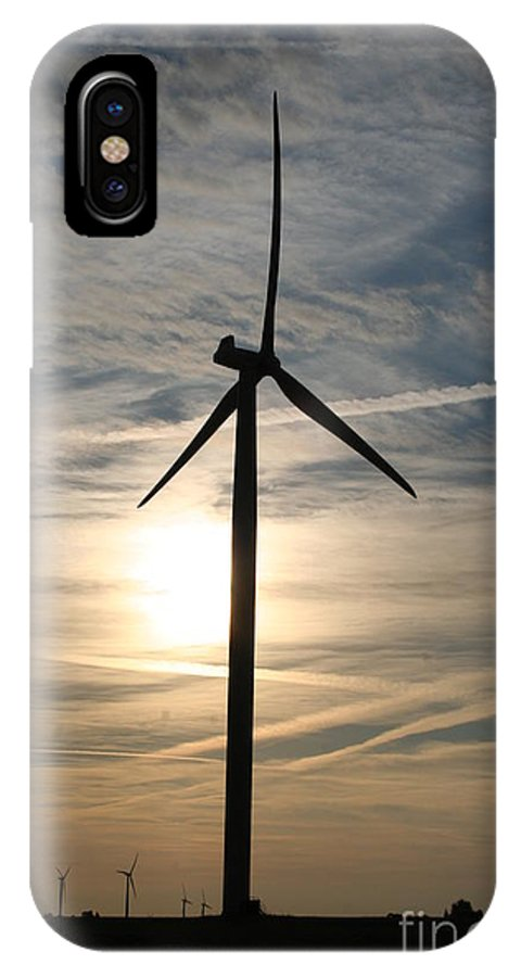 Wind IPhone X / XS Case featuring the photograph Power To The Sun by Roger Look