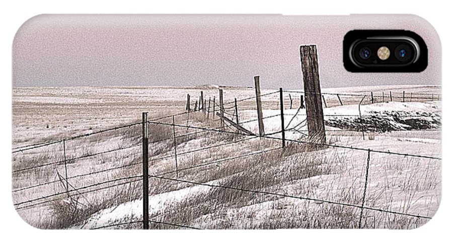 Prairie Puzzle IPhone X Case featuring the photograph Prairie Puzzle by William Fields