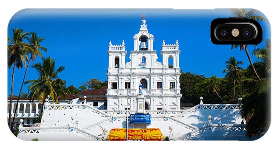 Church IPhone X Case featuring the photograph Pray For Me by Dattaram Gawade