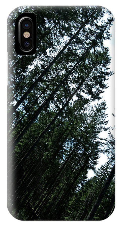 Trees IPhone X Case featuring the mixed media Pre Clear Cut by Travis Crockart
