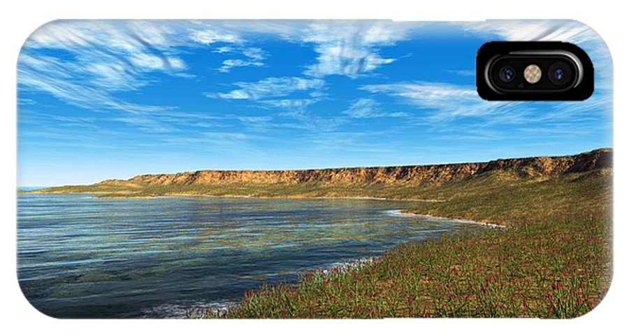 Aglaophyton Sp. IPhone X / XS Case featuring the photograph Prehistoric Coastal Landscape, Artwork by Walter Myers