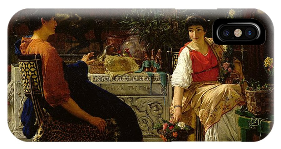Preparations IPhone X Case featuring the painting Preparations For The Festivities by Sir Lawrence Alma-Tadema