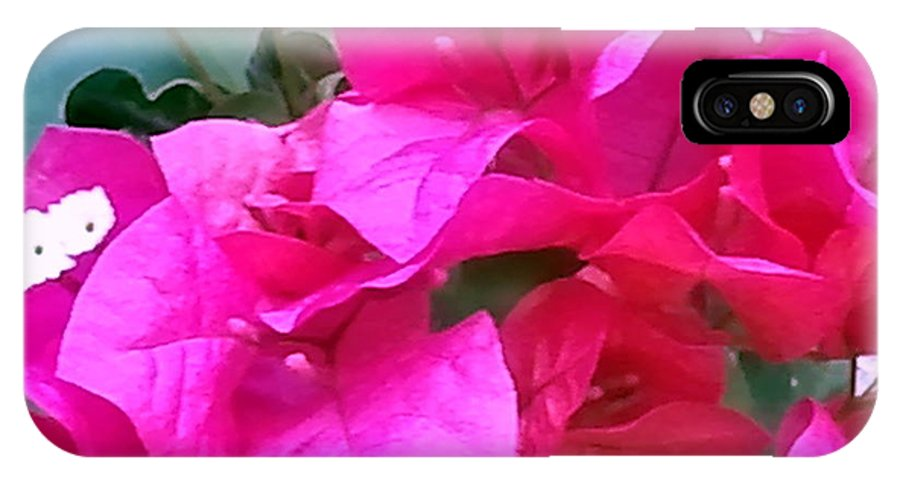 Landscape IPhone X Case featuring the photograph Pretty In Pink by Cheryl Matthew