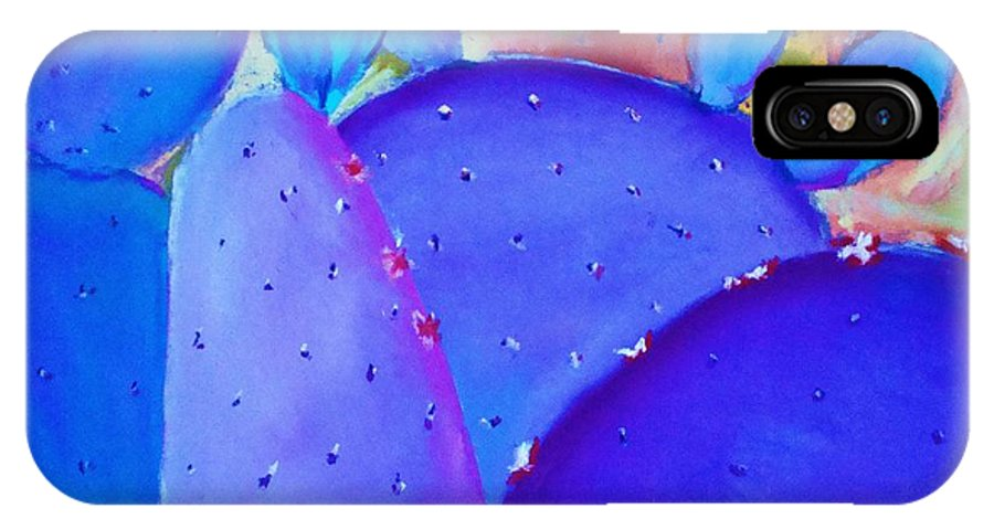Cactus IPhone X Case featuring the painting Prickly Pear by Melinda Etzold