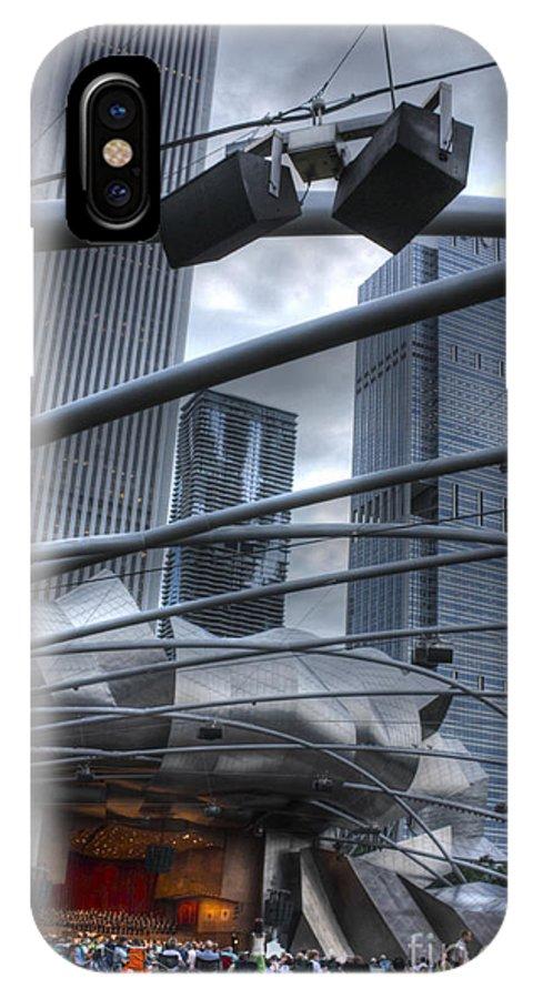 Pritzker Pavilion IPhone X Case featuring the photograph Pritzker Pavilion Concert by David Bearden