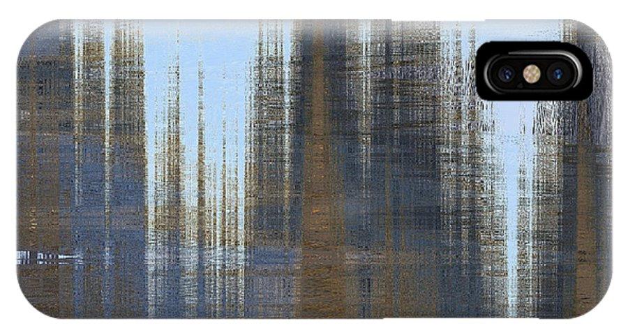 Brown IPhone X Case featuring the digital art Prometheus by Hannah Breidenbach