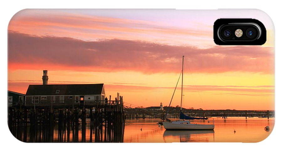 Dawn IPhone X Case featuring the photograph Provincetown Harbor Before Sunrise by Roupen Baker