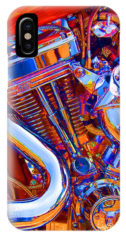 Chopper IPhone X Case featuring the photograph Psychodelic Chopper-1 by Paul W Faust - Impressions of Light