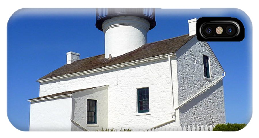 Light IPhone X Case featuring the photograph Pt. Loma Lighthouse by Carla Parris
