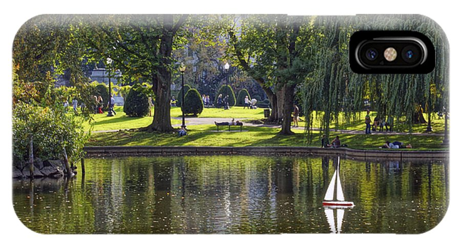 Boston IPhone X Case featuring the photograph Public Garden 05 by Jeff Stallard