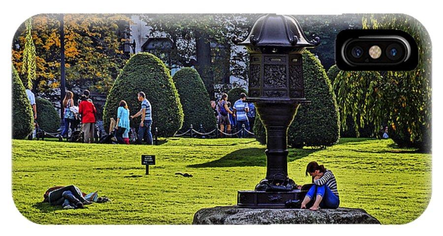 Boston IPhone X Case featuring the photograph Public Garden 07 by Jeff Stallard