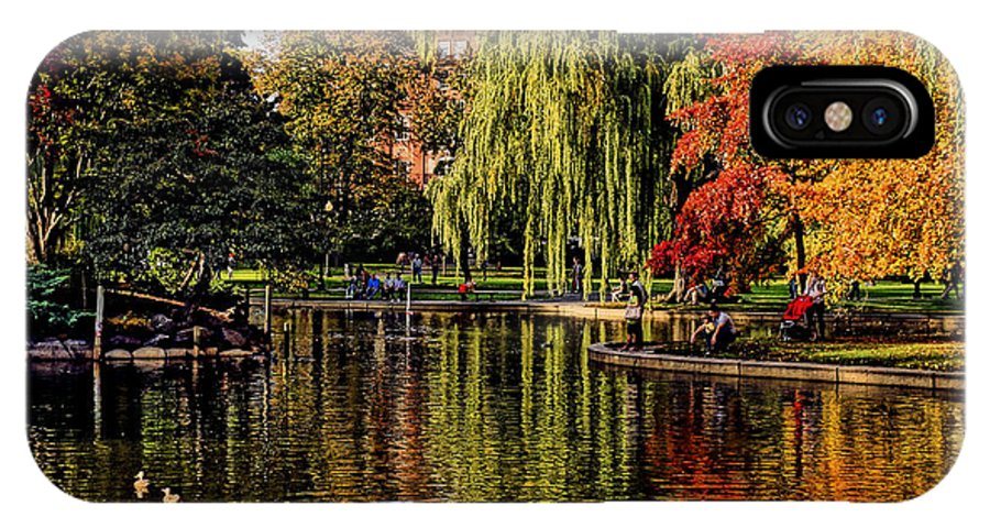Boston IPhone X Case featuring the photograph A Peaceful Scene by Jeff Stallard