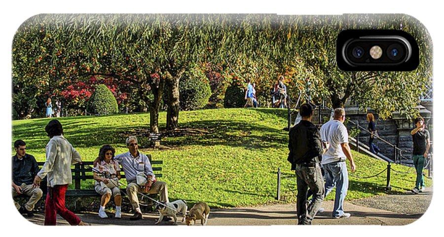 Boston IPhone X Case featuring the photograph Public Garden 11 by Jeff Stallard