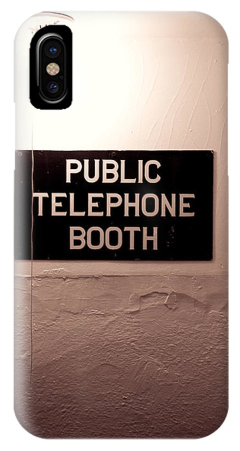Telephone IPhone X Case featuring the photograph Public Phone Booth by Lauri Novak