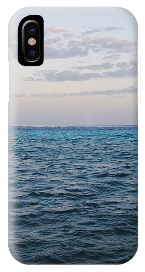 Ambergris Caye IPhone X Case featuring the photograph Puffy Clouds On Horizon With Caribbean by James Forte