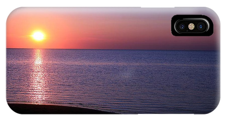 Purple IPhone X Case featuring the photograph Puple And Pink Sunset by Christopher Hignite