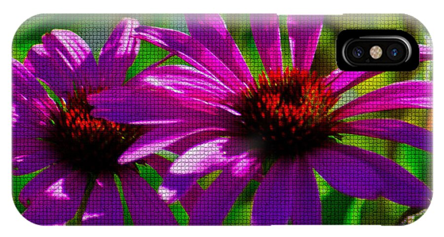 Fine Art IPhone X / XS Case featuring the photograph Purple Daisy's by Donna Greene