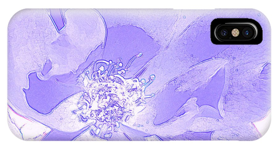 Rose IPhone X Case featuring the photograph Purple Flower by P S