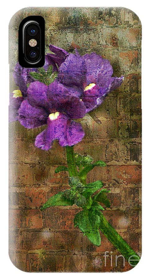 Flowers IPhone X Case featuring the photograph Purple Painted Flowers by Dawn Harris