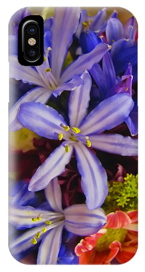 Nature IPhone X Case featuring the photograph Purple Stars by Debbie Portwood