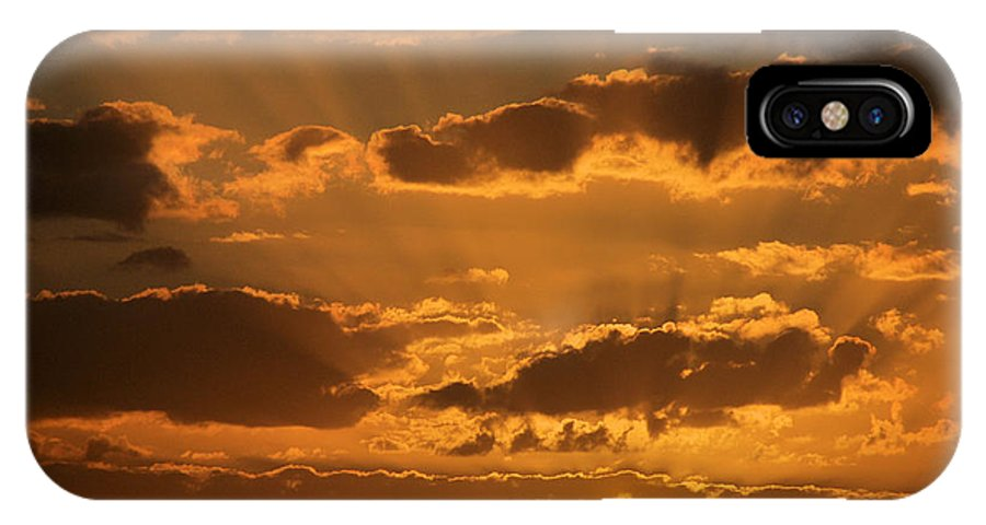 Sunsets IPhone X Case featuring the photograph Put Another Day To Rest by Jan Amiss Photography
