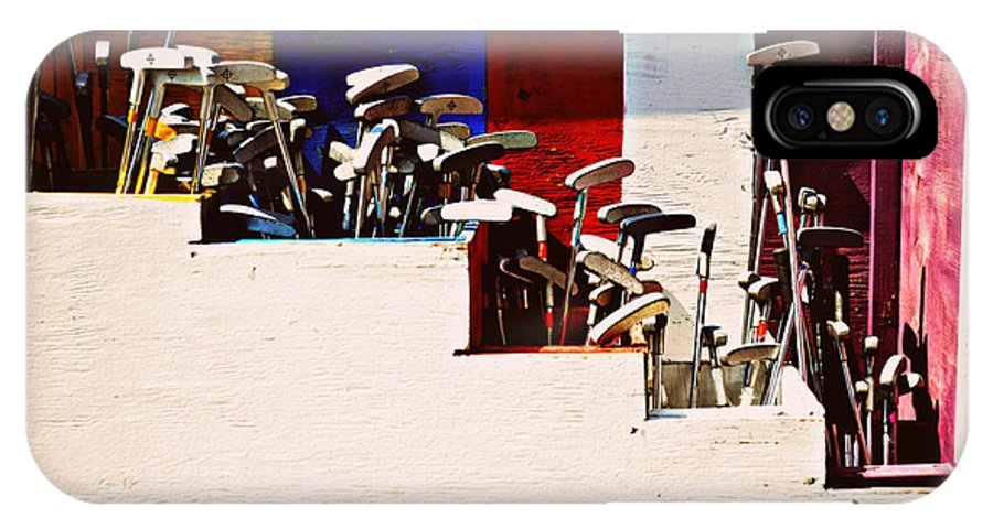 Digital Art IPhone X Case featuring the photograph Putters by Paulette B Wright