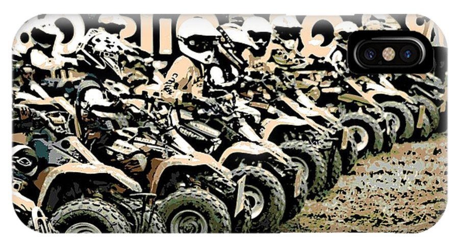 4 Wheeler IPhone X Case featuring the photograph Quad Racers by George Pedro