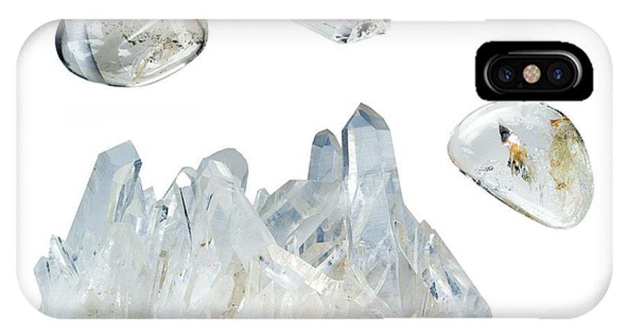 Quartz IPhone X / XS Case featuring the photograph Quartz by Paul Biddle